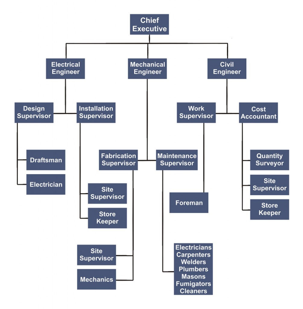 Organogram united engineering for Organigram template